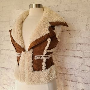 Guess Jeans Faux Shearling Microsuede Vest